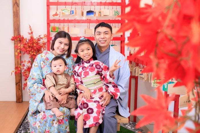 育兒│小村日和日式抓周。仙貝滿周歲全家福紀念寫真*