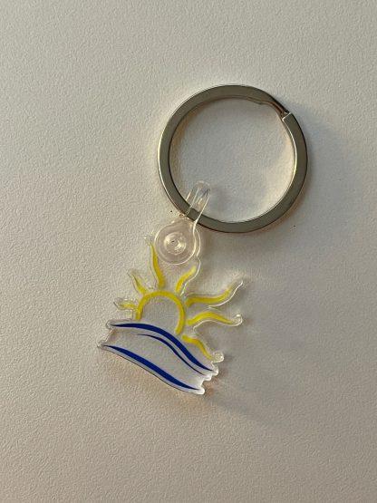 Naturist Symbol Acrylic Keychain