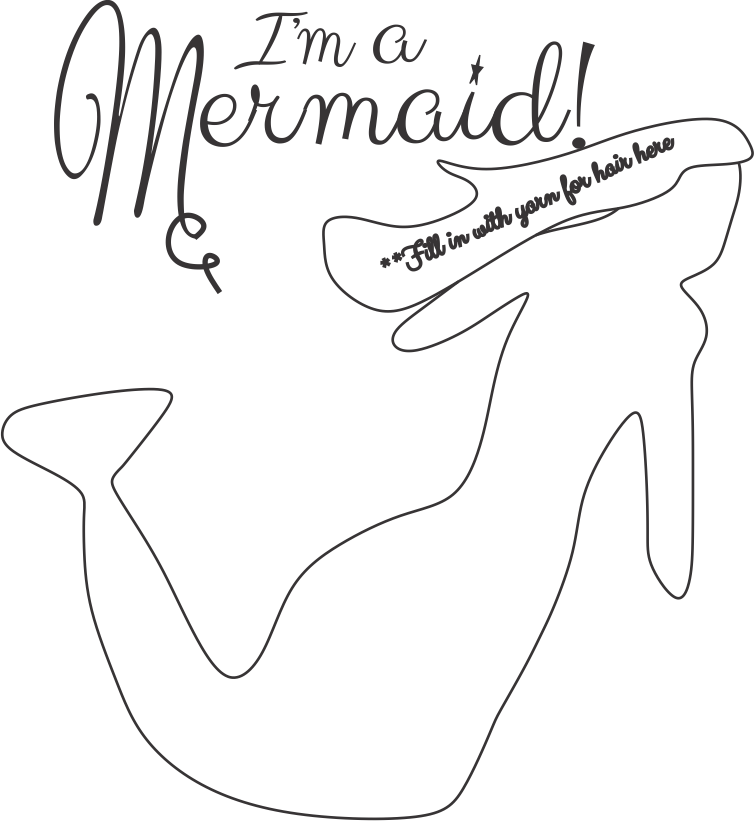 graphic relating to Mermaid Stencil Printable known as Absolutely free Printable Mermaid For Shadowbox -