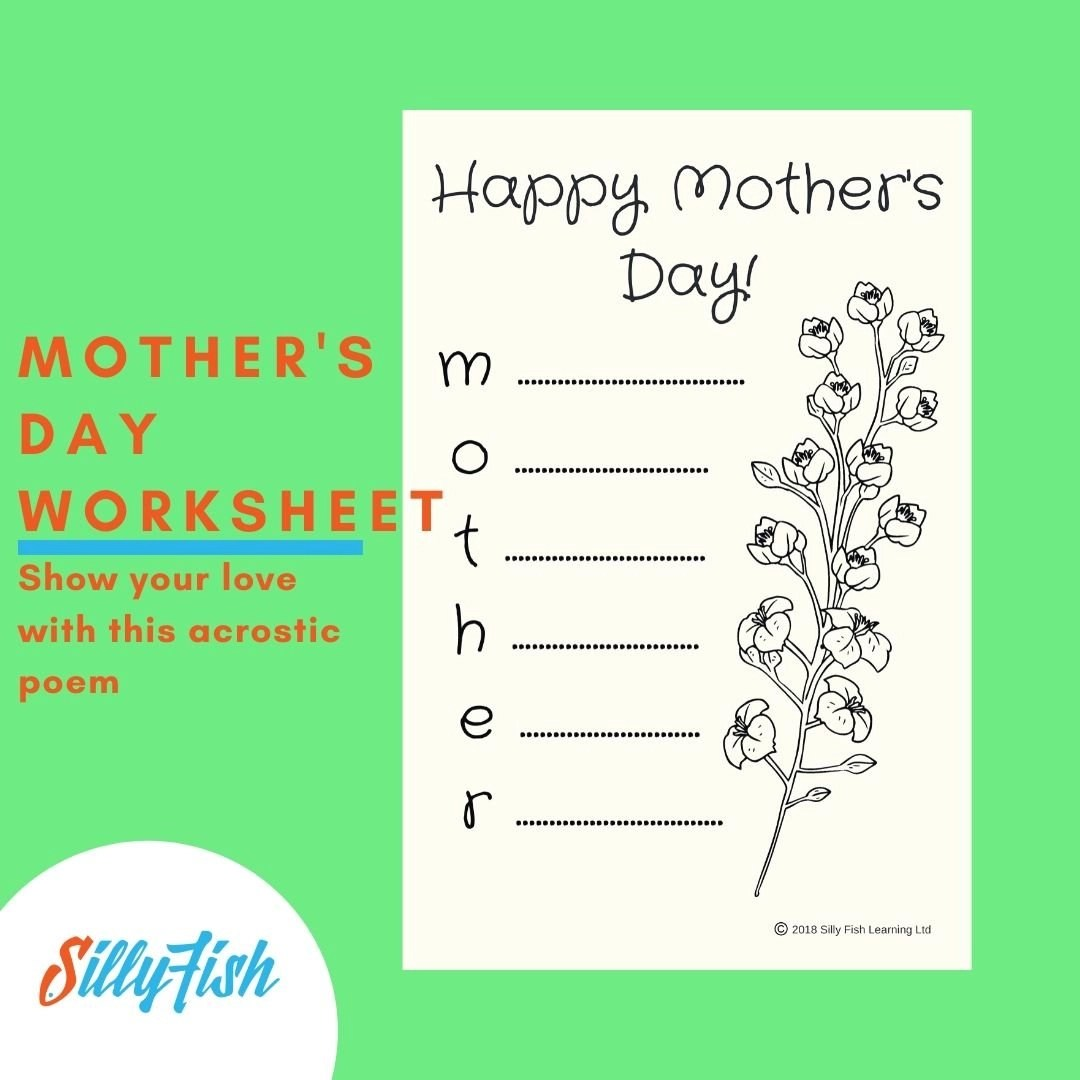 Mother S Day Worksheet