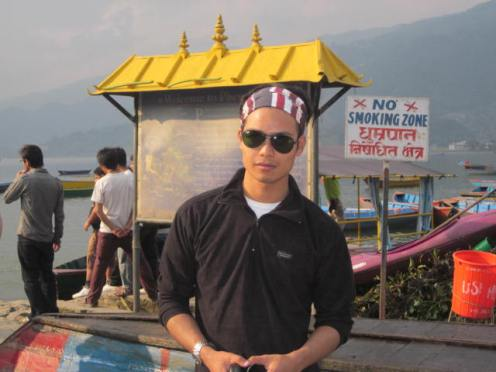 Enjoying at Lakeside, Pokhara