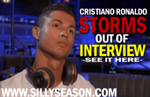 Real Madrid's Cristiano Ronaldo Storms out of interview!
