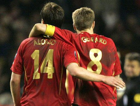Alonso and gerrard are one of the Top 10 Best Friends in Football