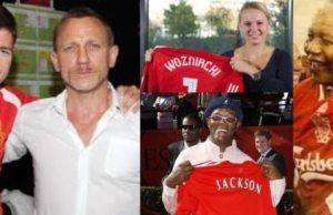 Top 10 celebrities that support Liverpool FC