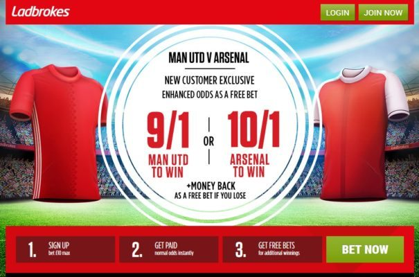 Man Utd vs Arsenal betting tips offer
