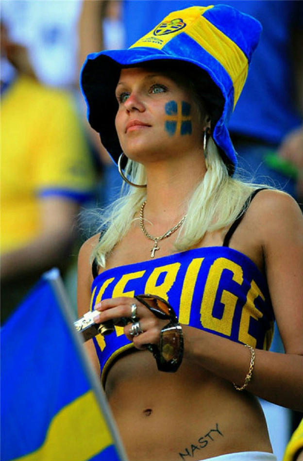 Countries With The Hottest Female Football Fans Sweden
