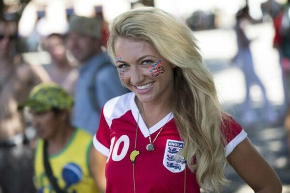 England fans World Cup 2014-2018 hottest fans World Cup hottest English female fans