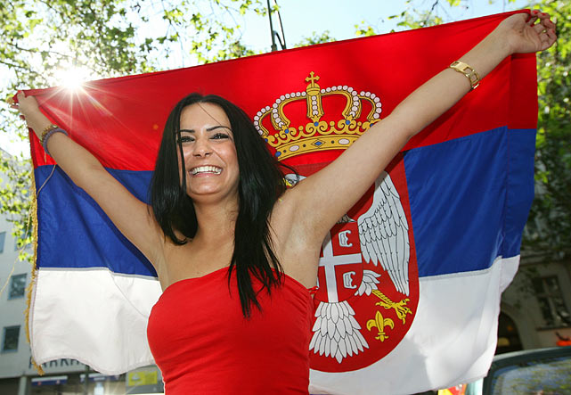 Images, Pictures and Photos of Beautiful, Sexy and Hot Serbian girls - Serbia Female Fans In World Cup 2018