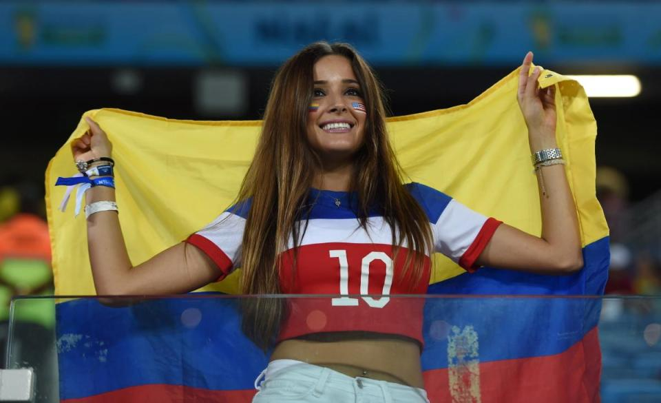 Photos of hot female fans in World Cup 2018 Colombia