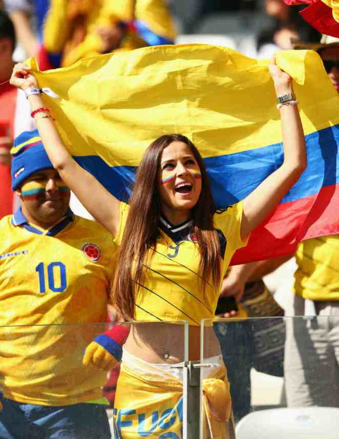 World Cup Teams With The sexiest Football Fans Colombian sexy fans Colombia World Cup hottest sexiest female fans