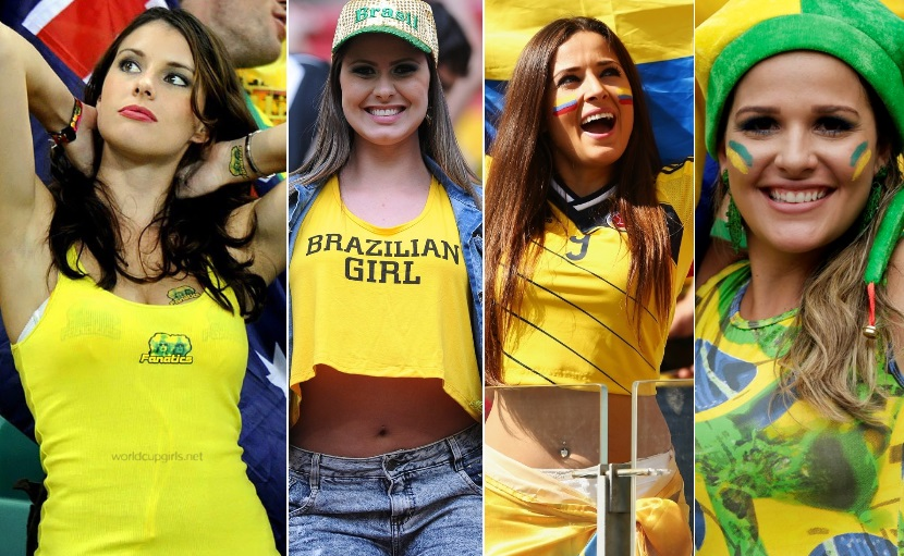 images, pictures and photos of beautiful and hot girls and female Fans In World Cup 2018