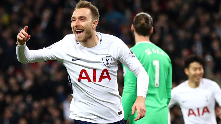 Fastest Premier League goal -Christian Eriksen- Manchester United 0-2 Tottenham - 2018-01-31
