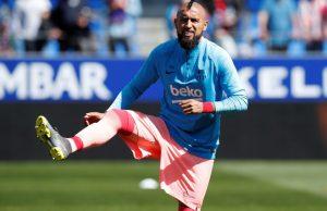 Arturo Vidal blames Manchester United fixture for draw against Huesca