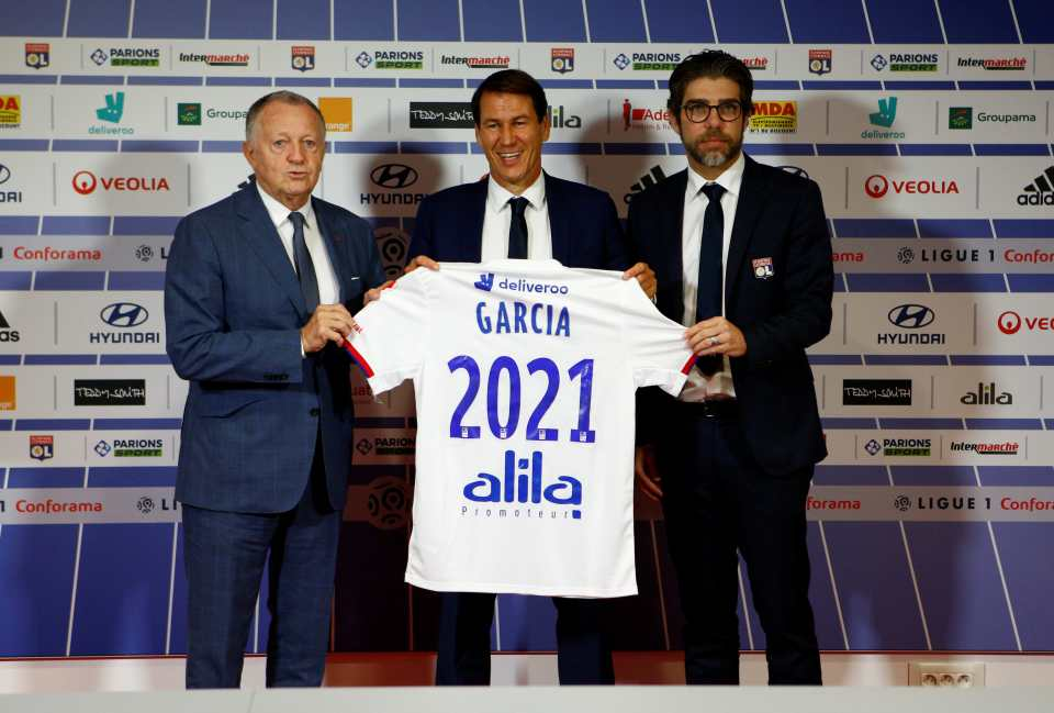Rudi Garcia takes over Lyon as replacement for former coach Sylvinho