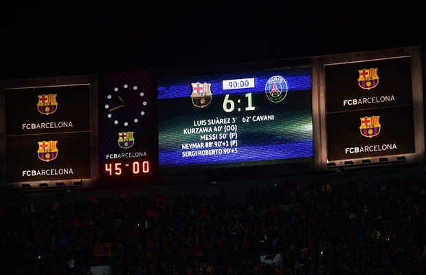 UEFA Admits Barcelona Were Helped By Referee In Their 6-1 Win Over PSG