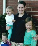 Gracie (right) with Teacher, Mary Patterson, and her two children