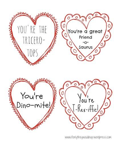 Dinosaur Valentine Printable copy