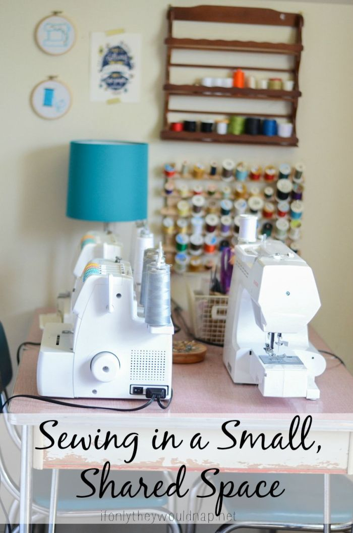Sewing in a small, shared space