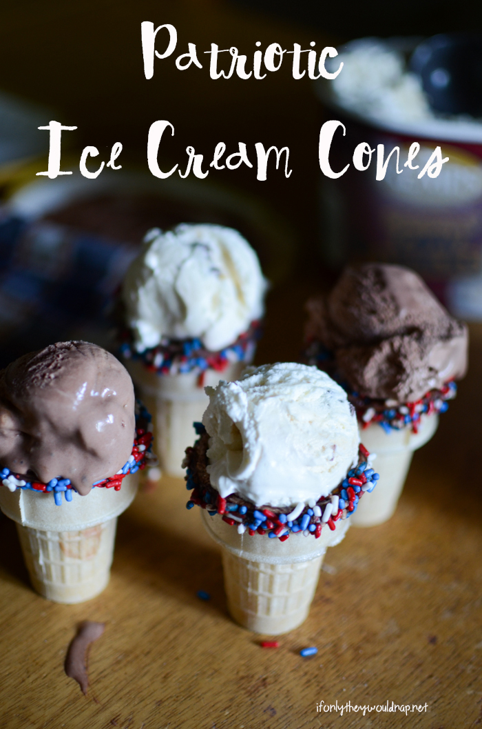 Patriotic Ice Cream Cones