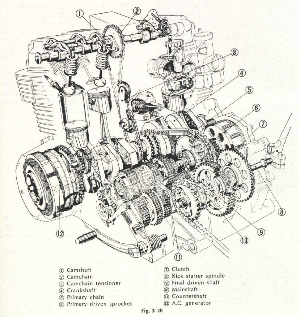 hight resolution of honda cb750 engine cutaway
