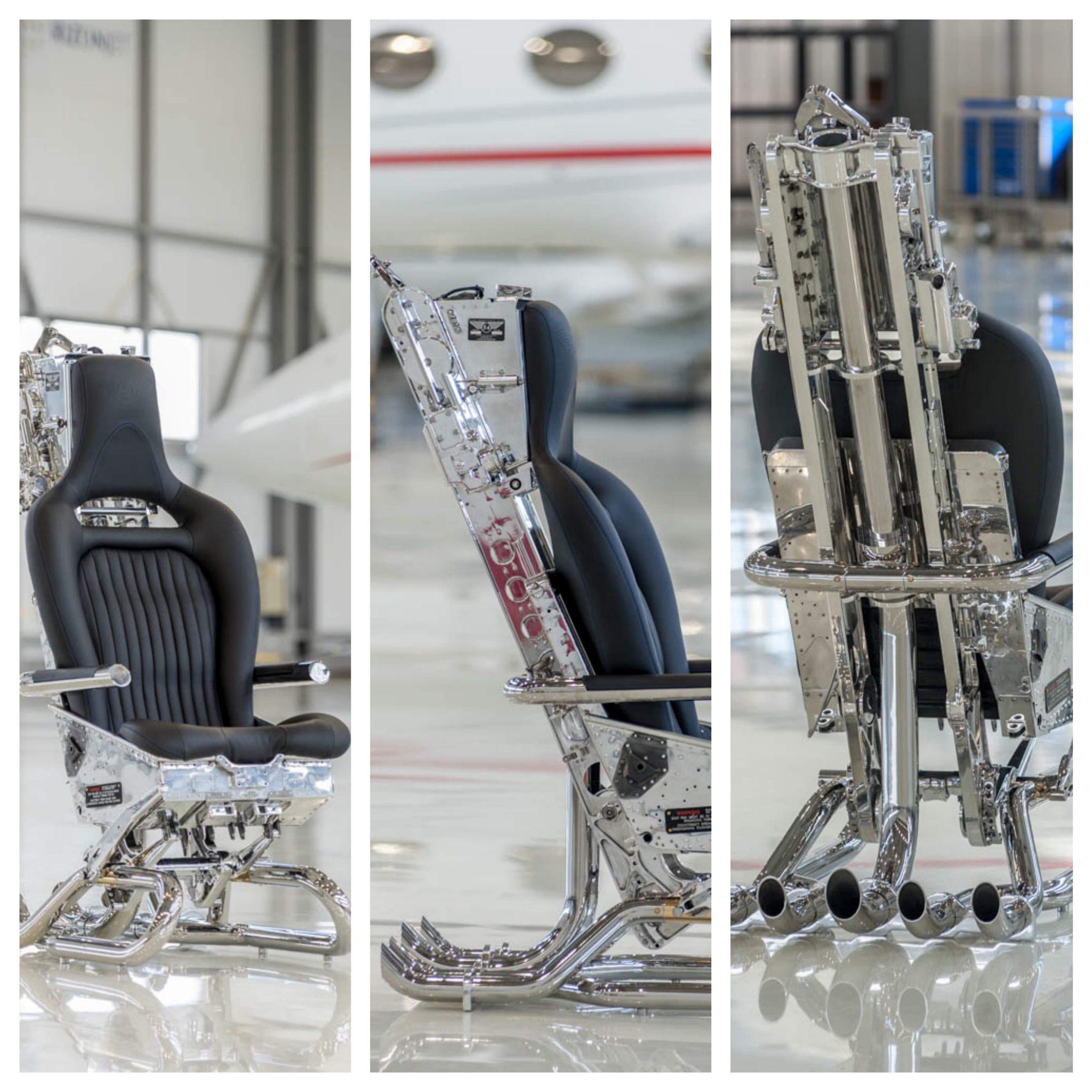 ejection seat office chair memory foam by hangar 54
