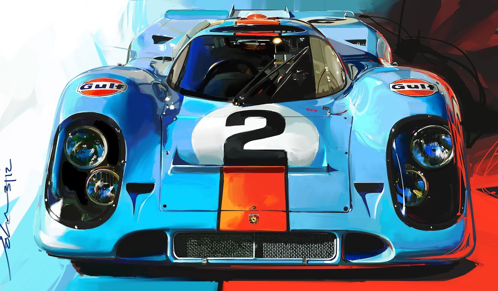 Indy Car Racing Wallpaper Gulf Porsche 917 By John Krsteski