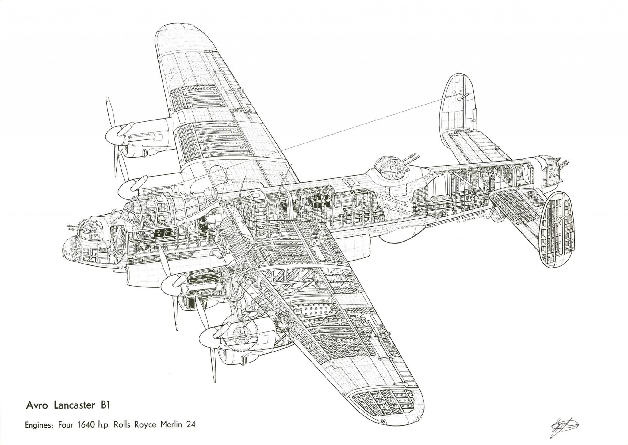 Avro Lancaster Cutaway Wallpaper