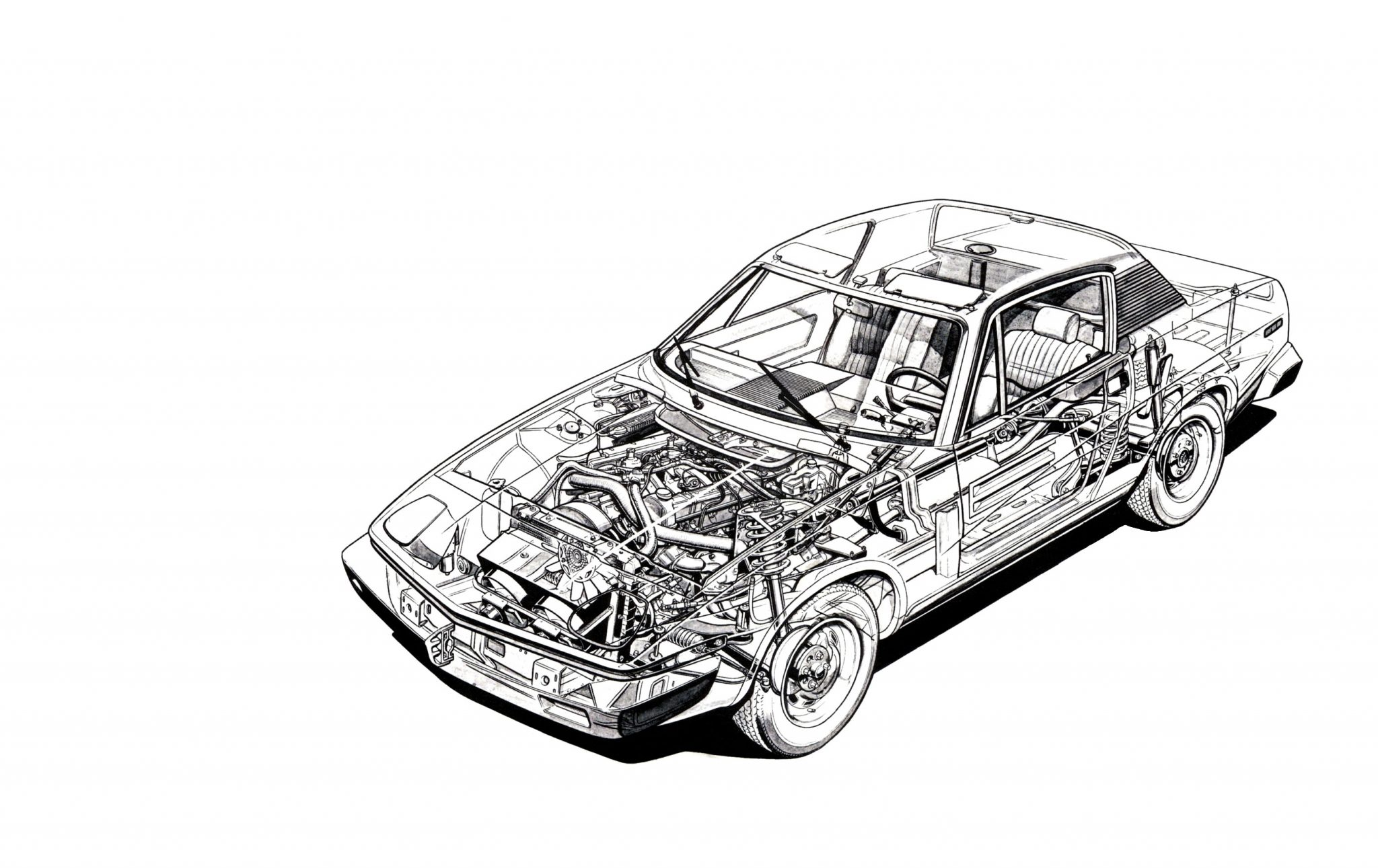 Triumph Tr7 Cutaway Wallpaper