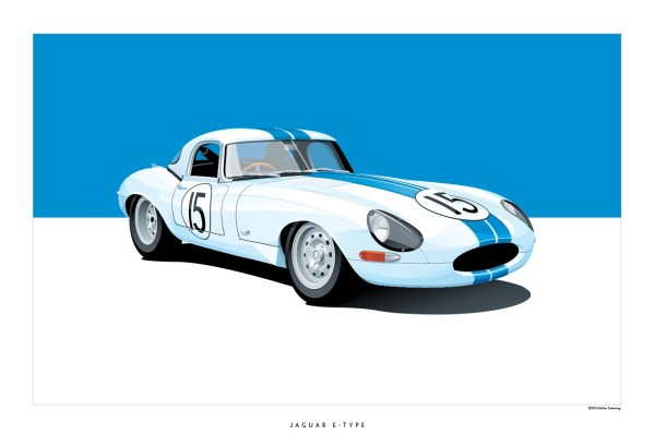 Iconic Racing Car Posters Arthur Schening