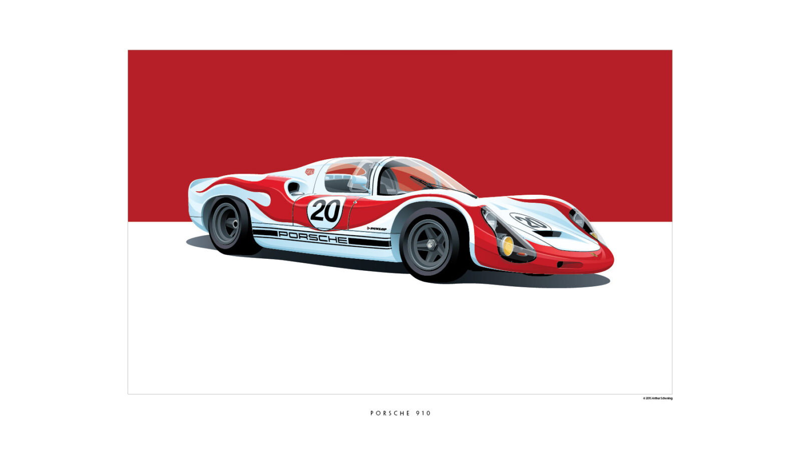 Iconic Racing Car Posters By Arthur Schening