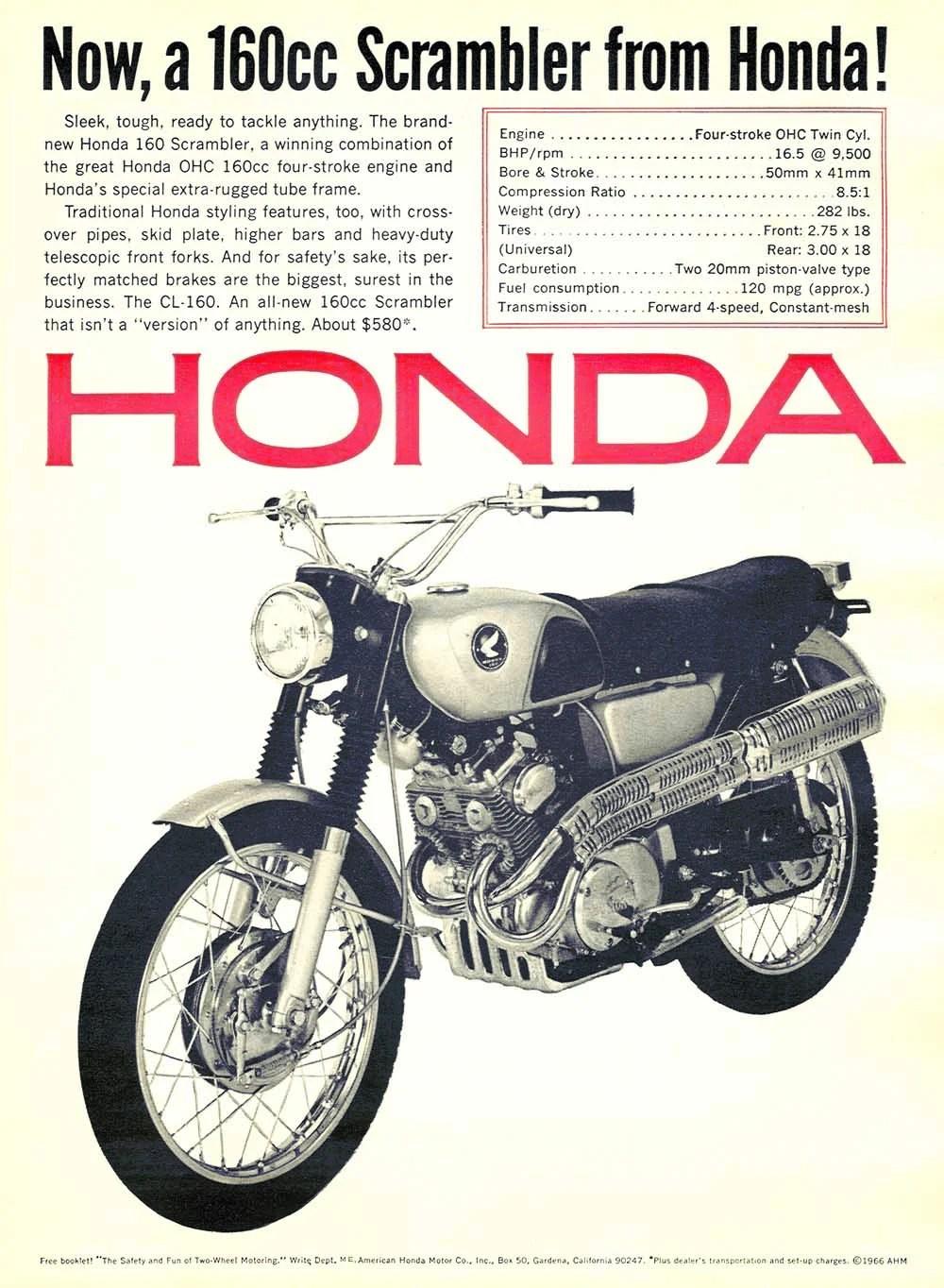 hight resolution of honda cl160