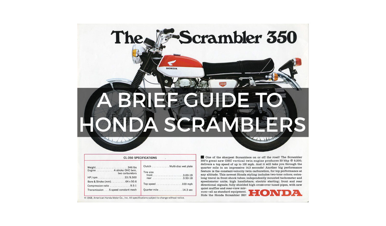 hight resolution of a brief 1600x939 a brief guide to honda scramblers