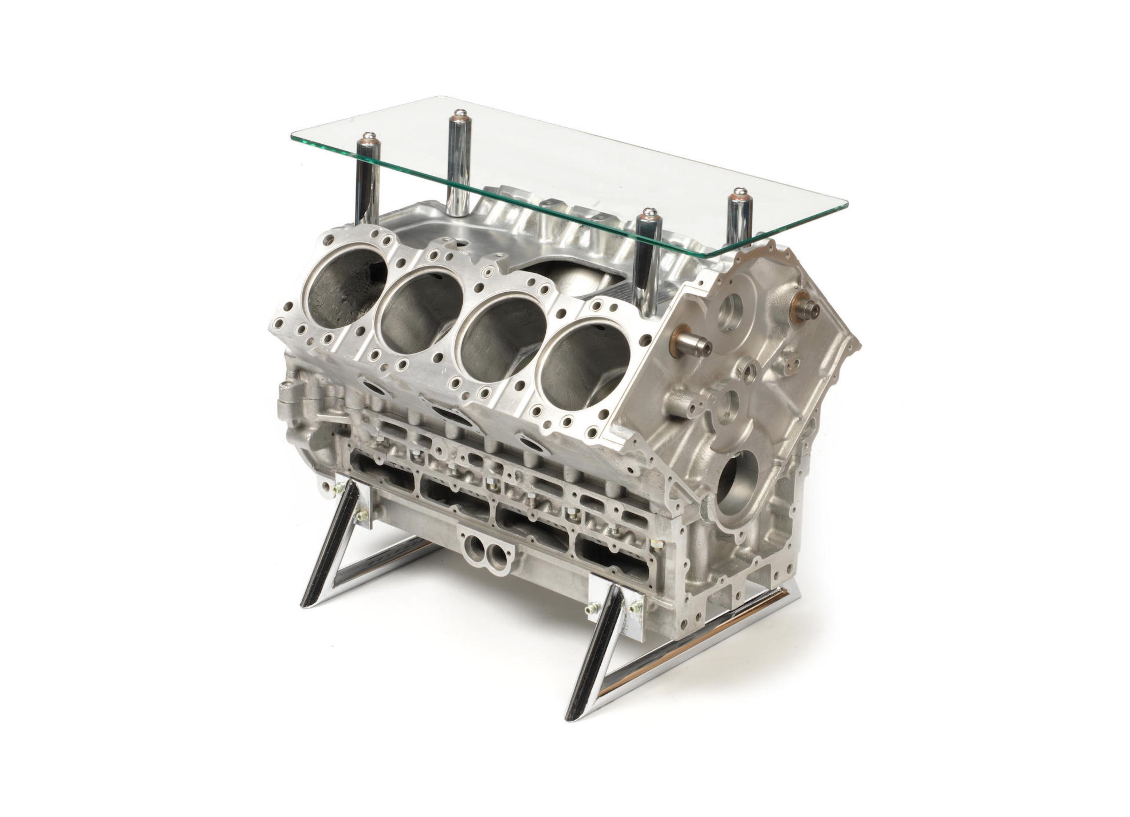 Mclaren Ford Dfv 919 Engine Block Coffee Table