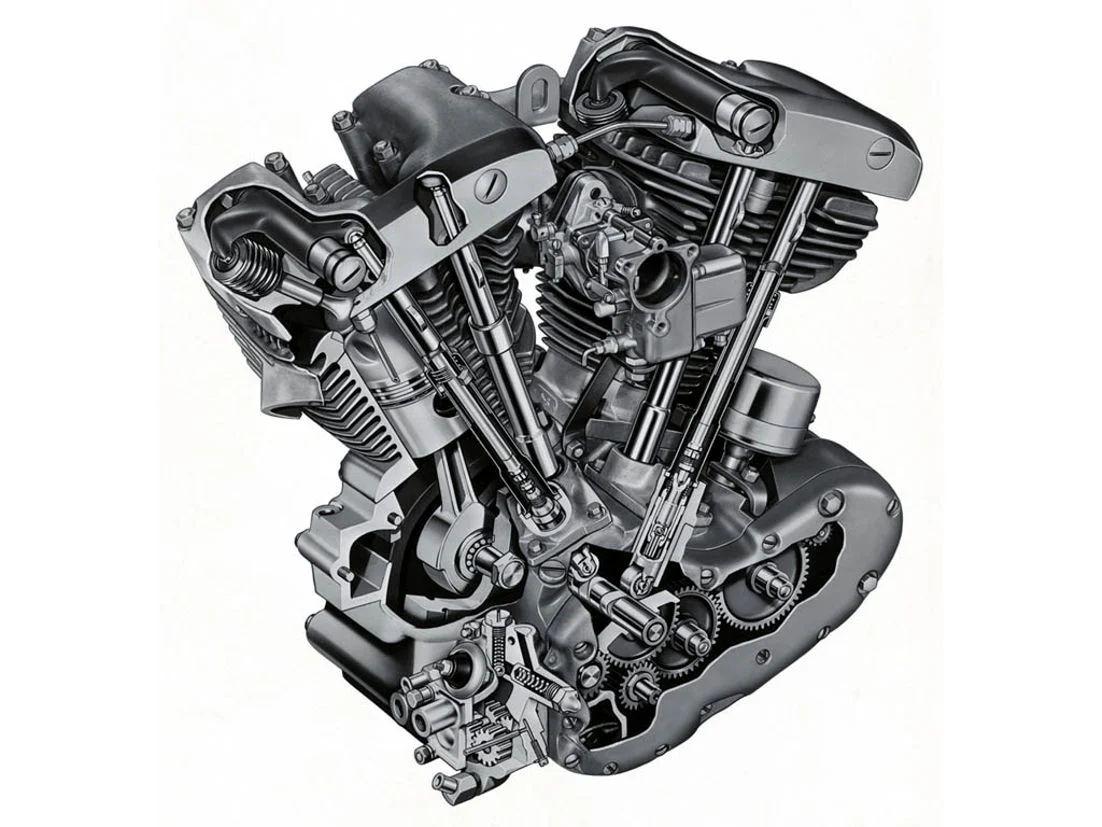 harley shovelhead engine diagram