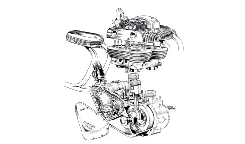 small resolution of ariel square four engine cutaway