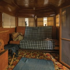 Sofa Steel Olympus Brown Leather Corner Bed With Storage An Original Covered Wagon Company Camping Trailer