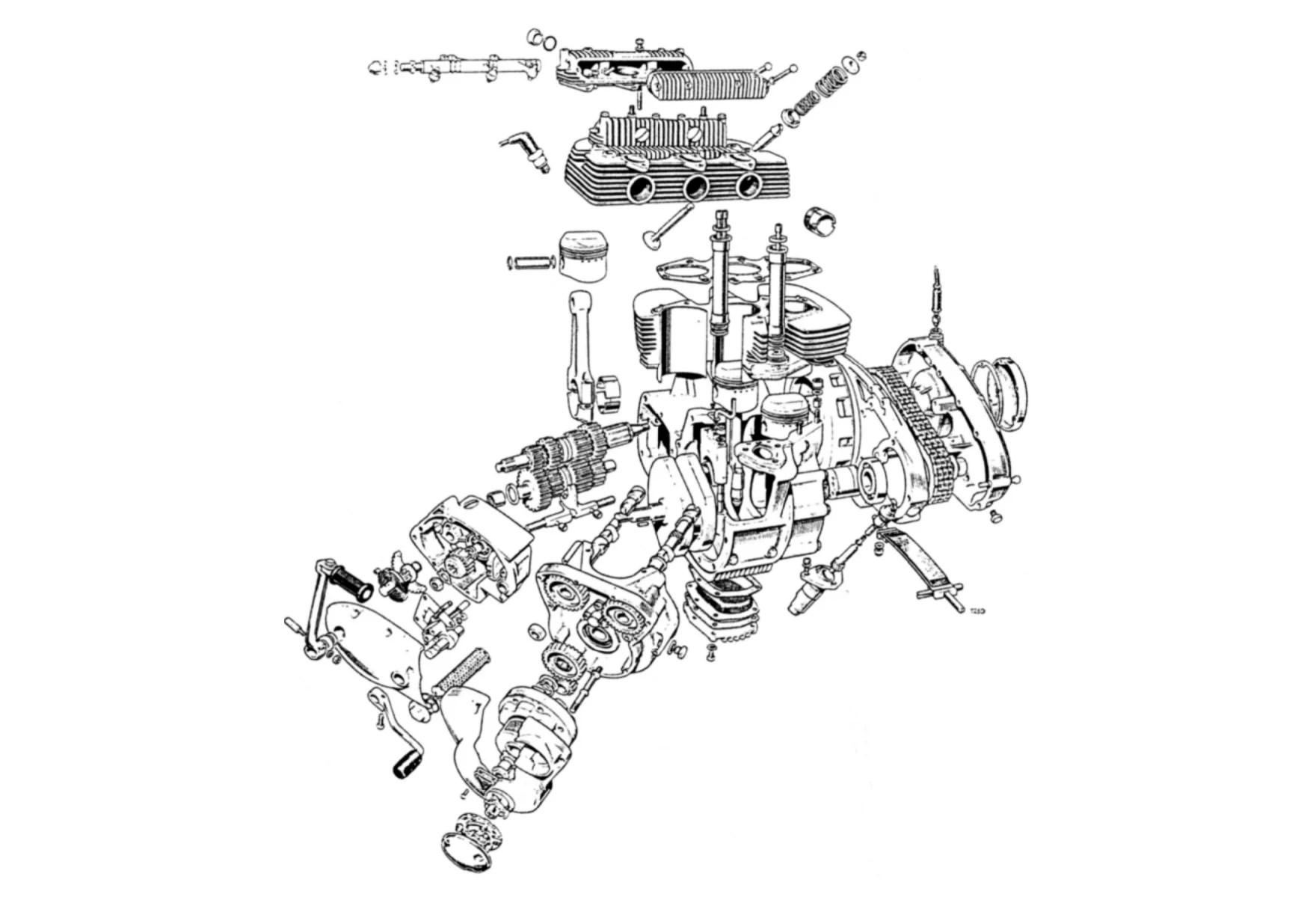hight resolution of triumph trident bsa rocket 3 engine cutaway