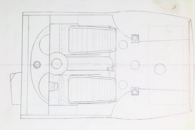 Original Blueprints Of The Alfa Romeo Giulia Tubolare