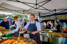 Many great food options are available at the Estate, including home cooked paella.