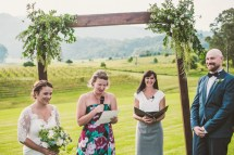 The most stunning setting for your wedding vows looking out across the vines - photo copyright Cloudface Photogrpahy