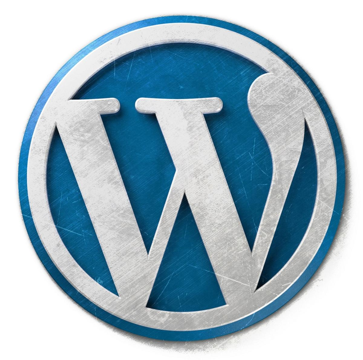 Blue and White WordPress Logo (Open Source Example)