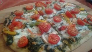 pesto wheat pizza