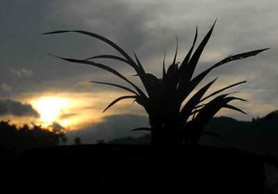 Puesta de sol en la cordillera de Guaniguanico, el 11 de Octubre de 2010, Pinar del Río, Cuba. Foto: Calixto N. Llanes/Juventud Rebelde (CUBA)