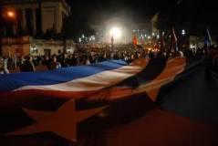 Miles de jóvenes cubanos participan en la Marcha de las Antorchas, el 27 de enero de 2011, La Habana, Cuba. Foto: Calixto N. Llanes/Juventud Rebelde (CUBA)