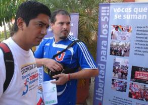 Delegados de distintos países del mundo participan en el III Encuentro Juvenil de Solidaridad con los Cinco, el 12 de Junio de 2011, La Habana, Cuba. Foto: Calixto N. Llanes/Juventud Rebelde (CUBA)