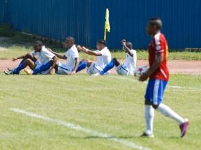 Asi celebraban los hondurenos su primer gol, el viernes 7 de septiembre de 2012, La Habana. FOTO de Calixto N. Llanes/Juventud Rebelde (CUBA)