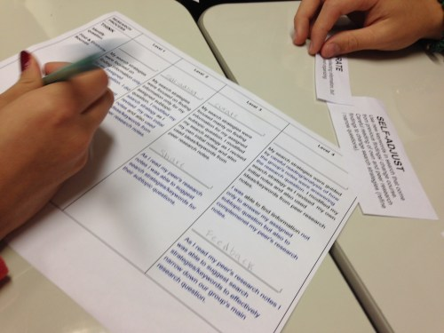 record peer assessment in group research