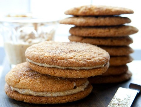 Gluten-Free, Dairy-Free Snickerdoodle Cookie Sandwiches with Hazelnut Cream
