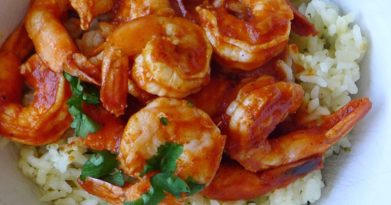 Spicy Chipotle Shrimp with Jalapeno Green Rice