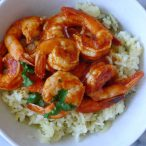 Spicy Chipotle Shrimp with Jalapeño Green Rice